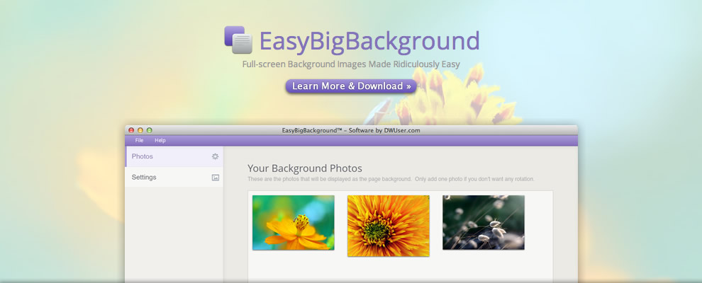 EasyBigBackground - Full-screen background images made ridiculously easy