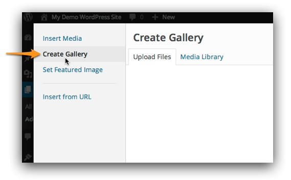 Create Gallery button